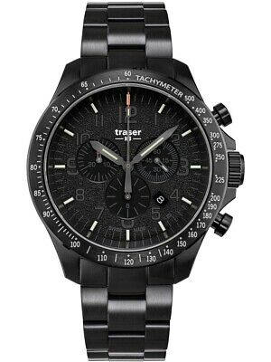 £555.24 • Buy Traser H3 P67 Officer Pro Chronograph Black Men's Watch 109466 Analogue
