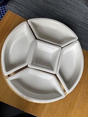 £22 • Buy White Ceramic And Wooden Lazy Susan Set