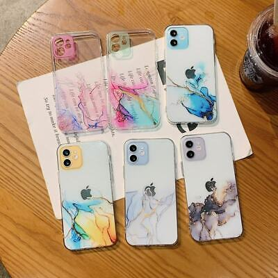 AU6.70 • Buy Clear TPU Marble Soft Rubber Phone Cover Case For IPhone 7 8 11 12 Pro XS Max XR