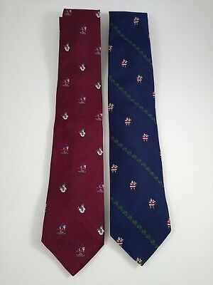 $31.49 • Buy Lot Of 2 Brooks Brothers Silk Ties Santa Christmas Red And Blue Holly Snowman
