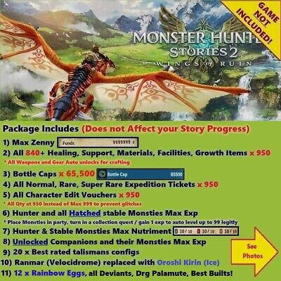AU33.88 • Buy Monster Hunter Stories 2 (Switch Cloud Save Edit), NOT A GAME