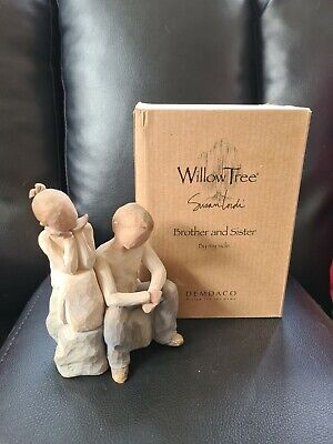 £36 • Buy Willow Tree 26187 Resin Brother And Sister Figurine BNIB