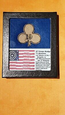 $575 • Buy Investment Grade Civil War 2nd Corps Badge 2nd Division 19th Maine Or Mass.