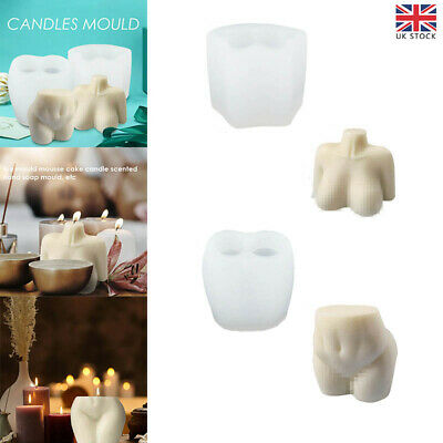 £7.56 • Buy Female Perfume Candle Moulds Silicone Human Body Candle Wax Making Soap Mold UK