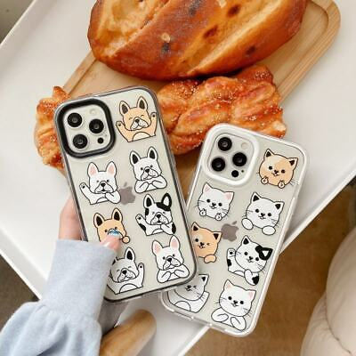 AU7.72 • Buy 3 In 1 Dog Cat TPU+PC Clear Case For IPhone 7/8+ 11 12 Pro Max X XR Phone Cover