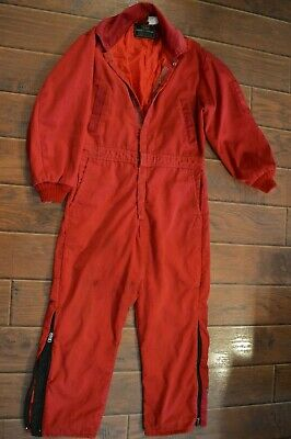 $55.75 • Buy Vintage Sears Work 'n Leisure Jumpsuit,coveralls,red,preowned,mens Small Medium
