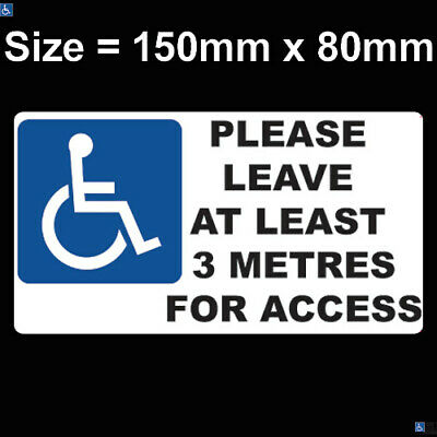 £1.95 • Buy Disabled Sign Disability Mobility Wheelchair Car Van Parking Vinyl Sticker Decal