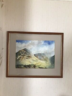 £15 • Buy Watercolour Painting Glen Coe Scotland Framed Overall Size 20x17inches