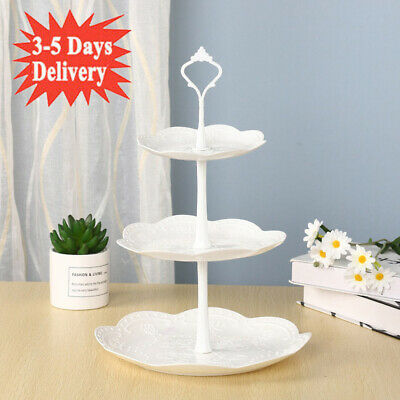 £6.99 • Buy 3 Tier Large Cake Cupcake Stand Food Fruit Holder Wedding Plate Party Tableware