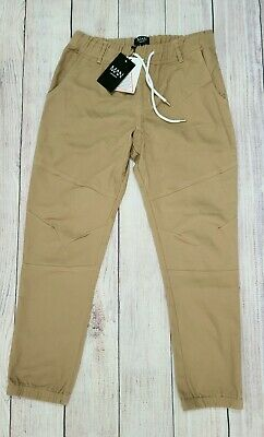 $22.20 • Buy New Mens Chino Trouser Joggers-BoohooMan- Skinny Fit Cuffed, Camel Sz Large, 34