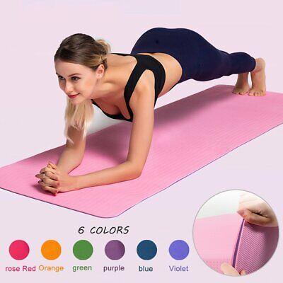 AU16.49 • Buy 10MM Thick Yoga Mat Pad NBR Nonslip Exercise Fitness Pilate Gym Durable