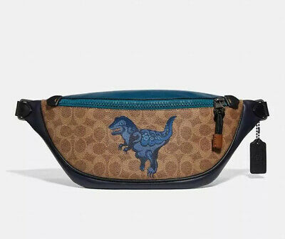 $250 • Buy Rivington Belt Bag COACH Signature Canvas With Rexy By Zhu Jingyi NEW W/O Tag