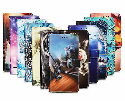 £4.29 • Buy Case For Samsung Motorola OPPO Pattern PU Leahter Flip Wallet Case Phone Cover