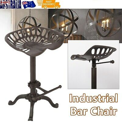 AU175 • Buy Rustic Industrial Farmhouse Tractor Seat Adjustable Swivel Bar Chair Dining Lift