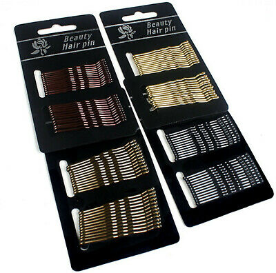 £1.76 • Buy Kirby Hair Grips Clips Bobby Waved Pins Slides Black Brown Gold Blonde Colours