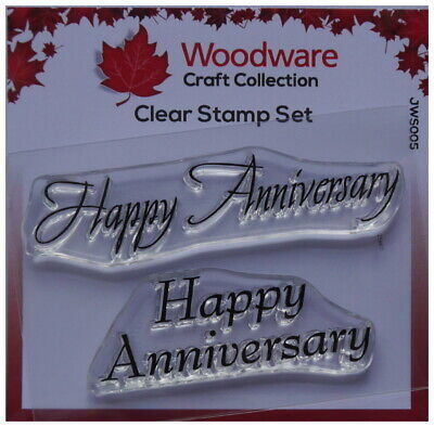 £2.55 • Buy Woodware Clear Stamps  HAPPY ANNIVERSARY Set Of 2