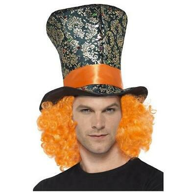 £6.99 • Buy Mad Hatter Top Hat With Hair Fancy Dress Accessory