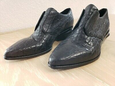AU318.01 • Buy Alexander Wang Leather Ankle Boots Shoes Croc Embossed Texturized Leather EUC