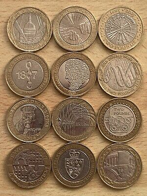 £34.99 • Buy 12x Two Pound Coin Job Lot ✨ 2013 Guinea £2 ✨ 2006 Brunel ✨ Military ✨DNA✨Train✨