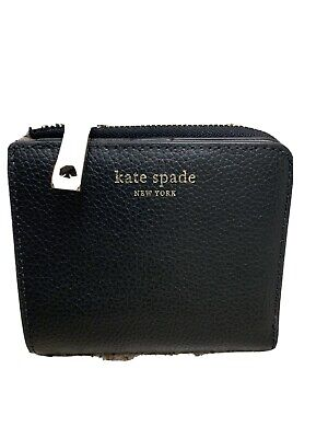 $ CDN49.10 • Buy NWT Kate Spade Staci Small L-zip Bifold Leather Wallet Black Leather