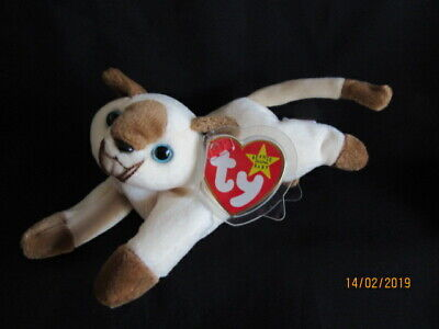 £9.99 • Buy Ty Beanie Baby Snip - Siamese Cat - Mint - Retired With Tags