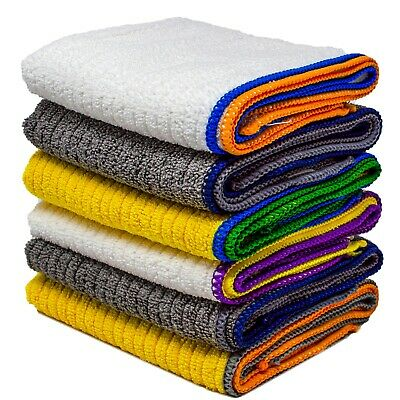 £5.49 • Buy 10 Pack Microfibre Cleaning Dish Cloths Large Kitchen Drying Absorbent Towels