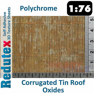 £9.99 • Buy Redutex CORRUGATED TIN ROOF POLYCHROME Oxidised OO 3D Texture Sheets 076TI122