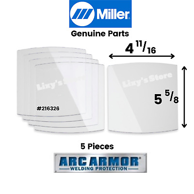 $13.99 • Buy Genuine Miller Electric Front Clear Lens Cover Elite Series & MP-10 #216326 5Pcs