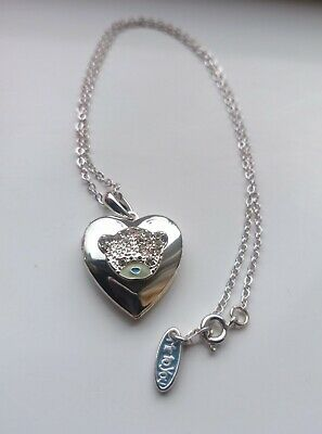 £19.99 • Buy Cute 'Me To You' Branded Bear Heart Shaped Locket Pendant Necklace Rhinestones