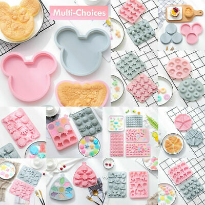 £3.59 • Buy Silicone Baking Mould Cake Jelly Cookies Soap Mold Chocolate Tray Wax Ice Cube