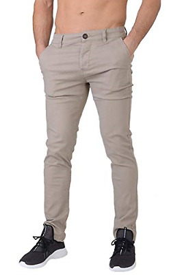 £24.99 • Buy Crosshatch Chinor Men's Smart Casual Slim Fit Stretch Cotton Chino Jeans Timber