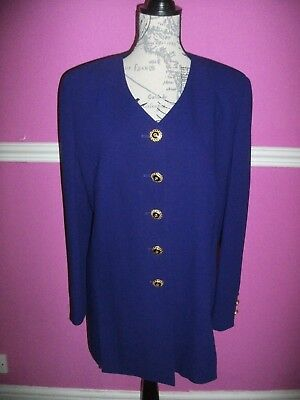 £20 • Buy BNWOT NEW HUCKE 100% PURE NEW WOOL BLUE Gold Buttons OCCASION JACKET BLAZER 16