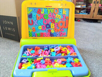 £8.99 • Buy ELC MAGNETIC BOARD & LETTERS In A Carry Case, Over 160 Letters & Numbers, In VGC