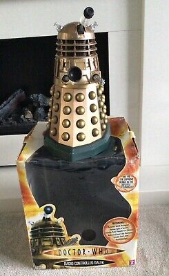 """£45 • Buy Doctor Who 12"""" Radio-controlled Bronze Dalek From 2005 With Original Box"""