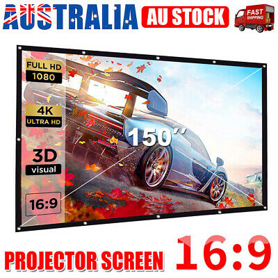 AU23.95 • Buy 150  Foldable Projector Screen 16:9 Portable Outdoor Home 3D 4K HD Movie Cinema