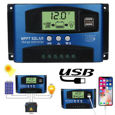 £15.99 • Buy MPPT Solar Charge Controller 50A 60A Ultra Fast Power Point Auto Focus Tracking