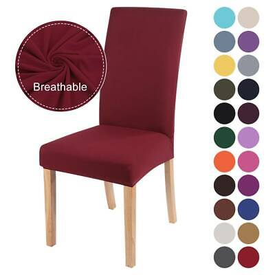 £3.39 • Buy Dining Chair Covers Seat Slipcover Universal Stretch Removable Chair Cover