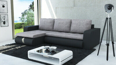 £435 • Buy Universal Corner Sofa Bed In Light Grey&Black With Spring Seat & One Storage