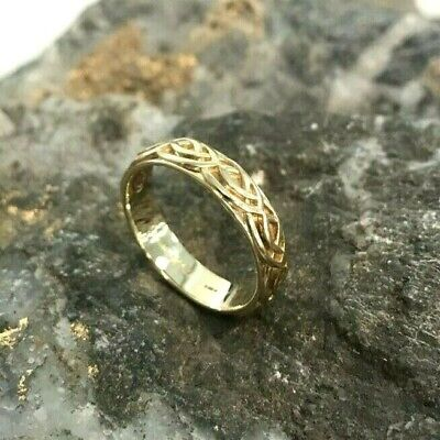£300 • Buy Welsh Clogau 9ct Yellow & Rose Gold Annwyl Celtic 5mm Ring £200 Off! SIZE T