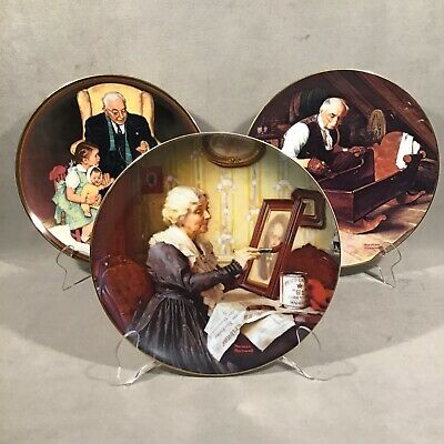 $ CDN22.66 • Buy PV06724 Vintage Knowles 8.5  Collector Plates - NORMAN ROCKWELL (3pcs)