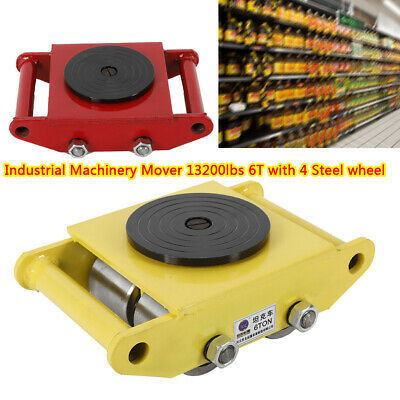 $64.01 • Buy US Heavy Duty Machine Dolly Skate Machinery Roller Mover Cargo Trolley 13,200lbs