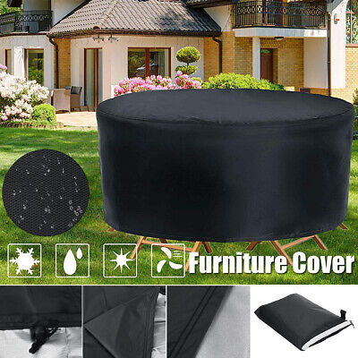 AU31.30 • Buy Large Round Waterproof Outdoor Garden Patio Table Chair Set Furniture Cover AU