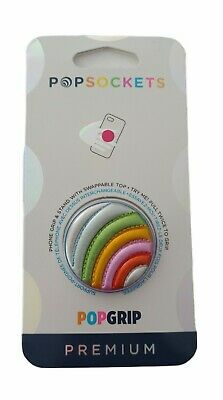 AU13.57 • Buy PopSockets PopGrip Cell Phone Grip And Stand Swappable Top Rainbow Multicolor