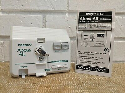 $ CDN50.29 • Buy Presto Above All Deluxe Can Opener Knife Automatic Under Cabinet 05640 Vintage