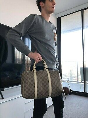 AU365 • Buy GUCCI Authentic GG Signature Canvas Boston Bag,size Speedy30,can Across Body