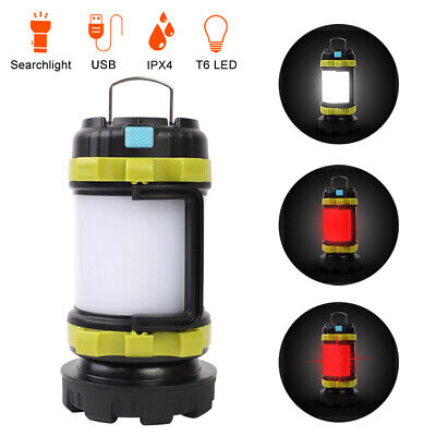 AU24.88 • Buy USB Rechargeable LED Camping Lantern Outdoor Tent Light Portable Power For Phone