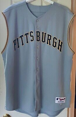 $27 • Buy Majestic Pittsburgh Pirates Authentic Road Jersey Sleeveless Vest Size 60 3XL +