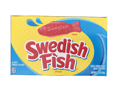 £2.85 • Buy Swedish Fish American Sweets Soft Chewy Candy 88g