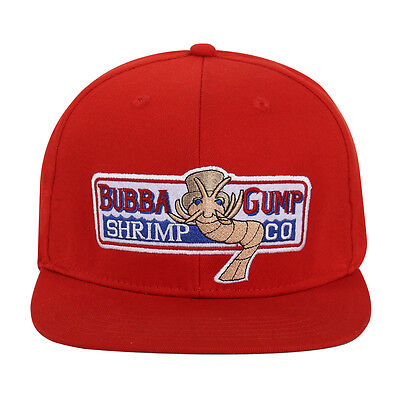 $ CDN10.64 • Buy Bubba Gump Shrimp Hat Forrest Gump Embroidered Snapback Cosplay Cap Red New Q