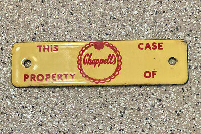 $14.99 • Buy VINTAGE CHAPPELL'S DAIRY Ice Cream Milk PORCELAIN METAL SIGN RARE $$$